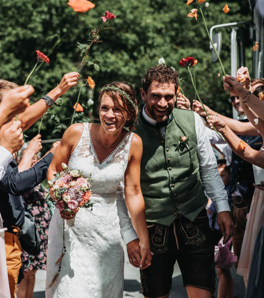 Hochzeit in den Alpen Trauung Sonnenalm Kampenwand